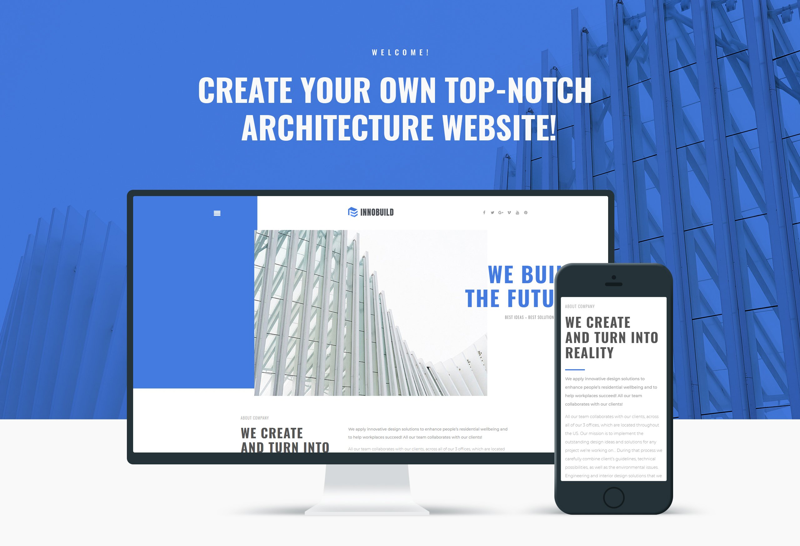 Website Design Template 73628 - trends innovation industry gallery partners creative