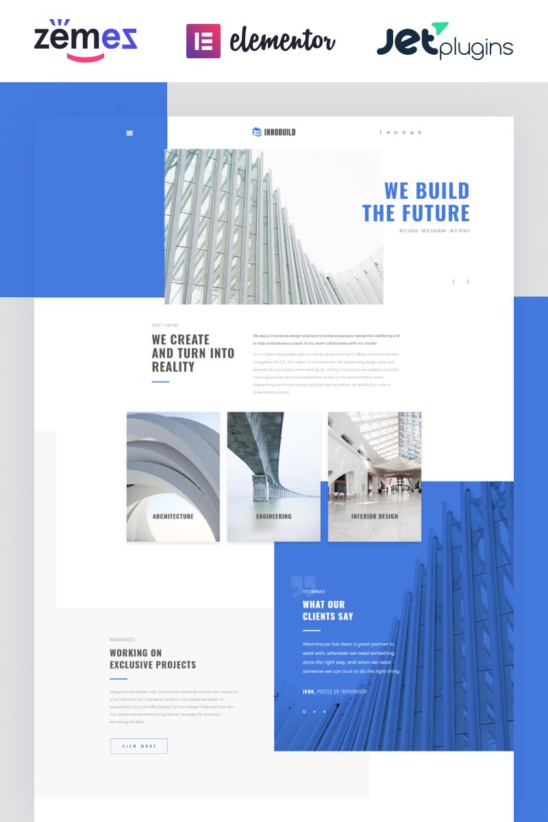 Website Design Template 73628 - portfolio dynamic studio exterior interior style trends innovation industry gallery partners creative