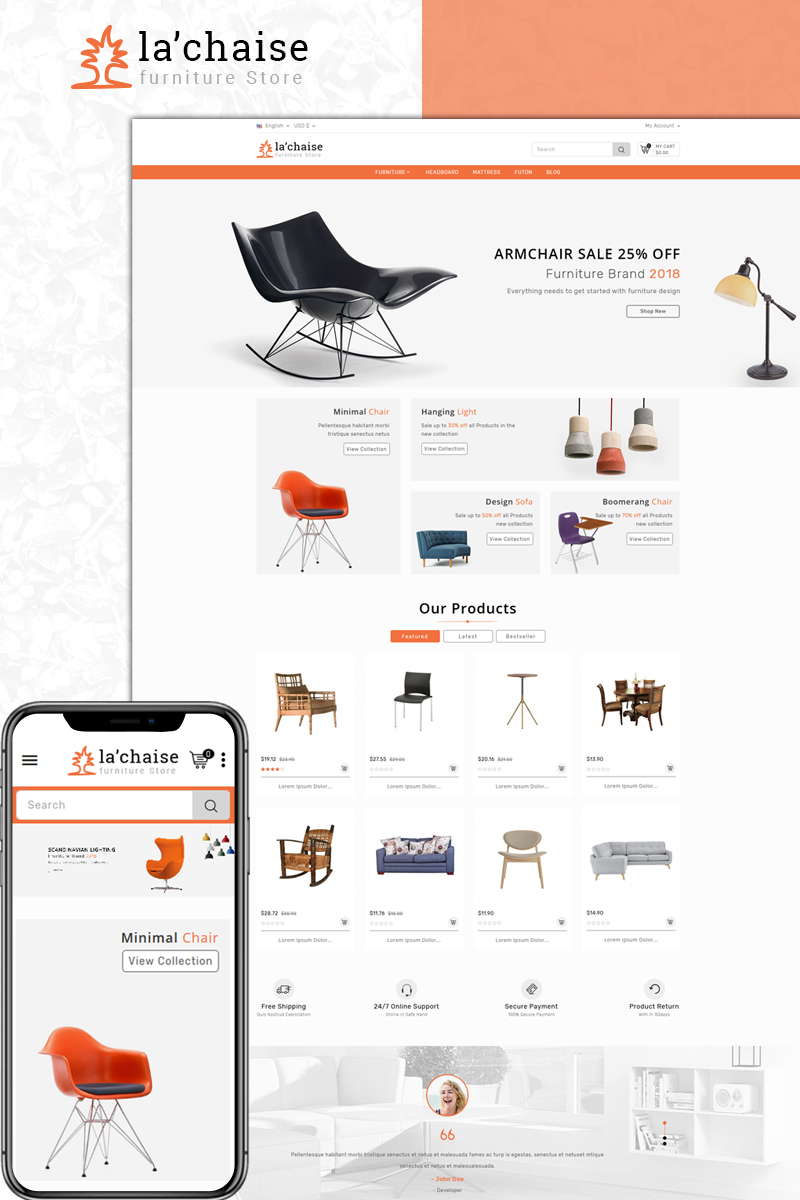 Website Design Template 73629 - store prestashop theme decoration