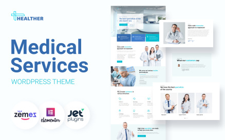 Healther - Medical Services Elementor WordPress Theme