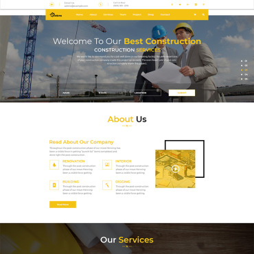 Preview image of OnSite Multipage Construction Web Template PSD