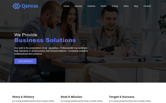 Qanvas - Multipurpose Business, Agency, Consultant and Corporate HTML5 Template