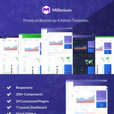 Preview image of Millenium - Bootstrap 4 Dashboard