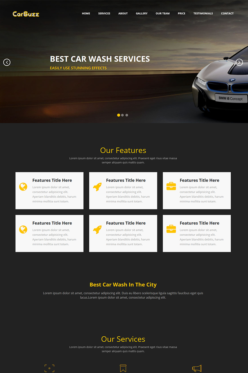 CarBuzz || Auto Mechanic & Car Repair HTML Template Landing Page Template