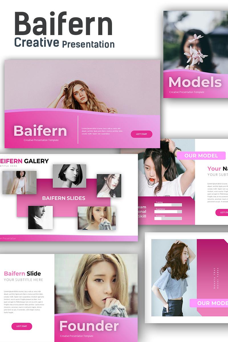 """Baifern Creative"" modèle PowerPoint adaptatif #73632"