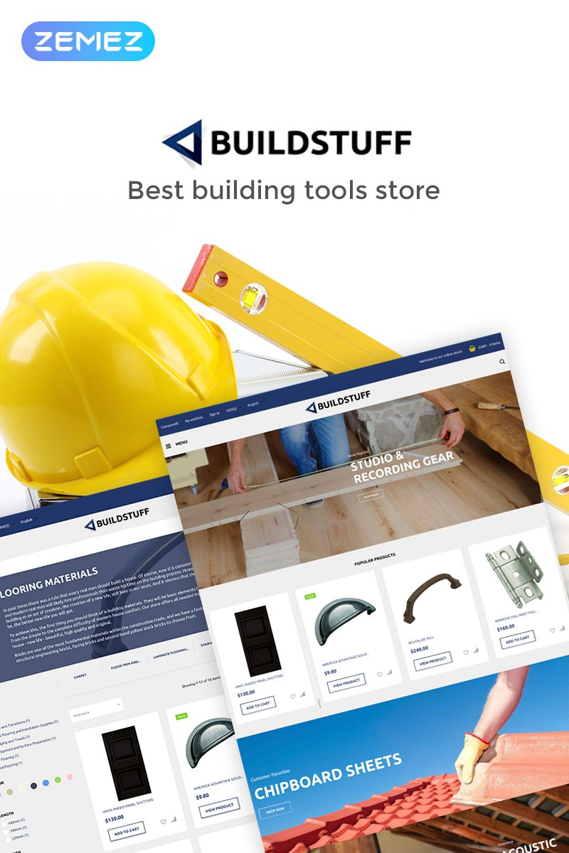 Buildstuff - Building Tools Elementor WooCommerce Theme