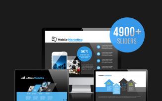 Business Survey & Marketing PowerPoint template