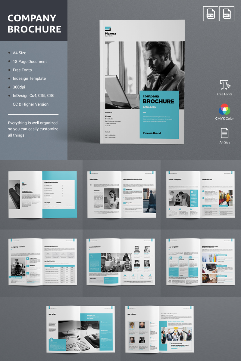 Company Brochure Corporate Identity Template - screenshot