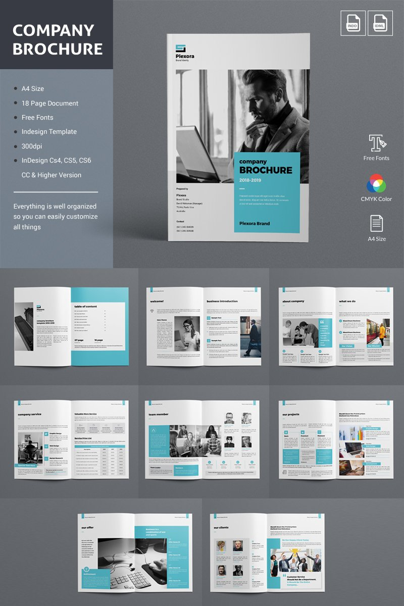 Company Brochure Corporate Identity Template