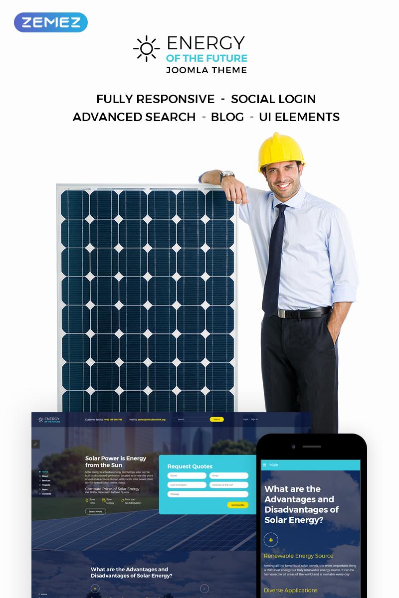 """Energy Of The Future - Solar Energy"" thème Joomla adaptatif #73671"