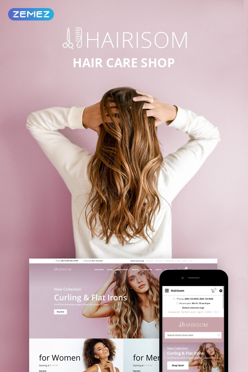 Hairisom Template OpenCart №73655