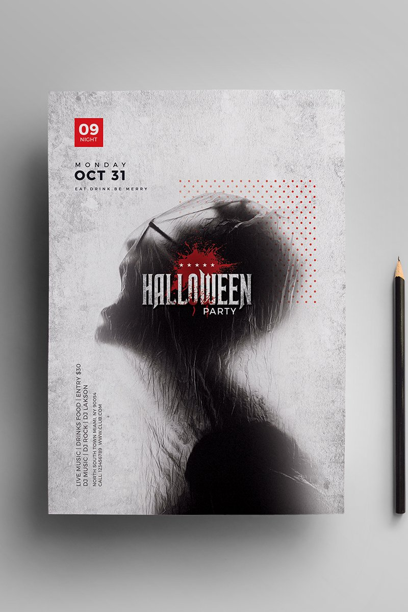 Halloween Party Flyer Corporate Identity Template - screenshot