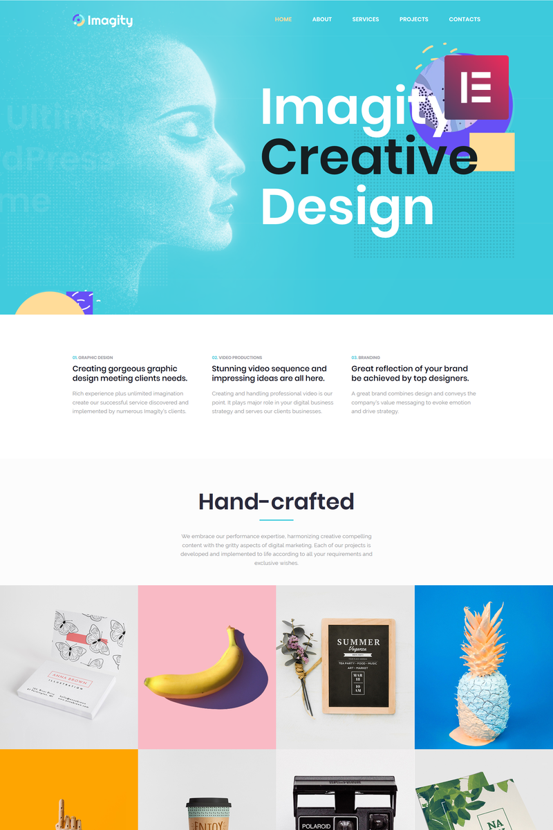 Imagity - Creative Minimal Elementor WordPress Theme - screenshot