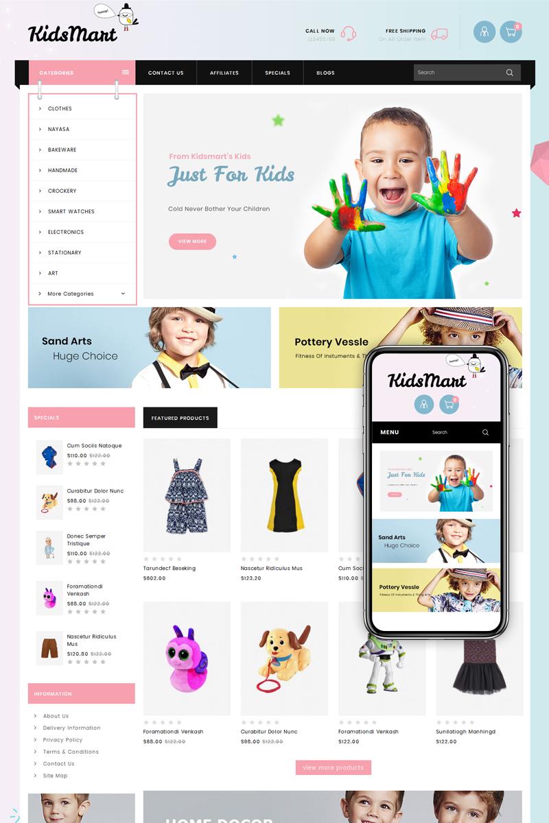 Kids Mart Shop OpenCart Template - screenshot