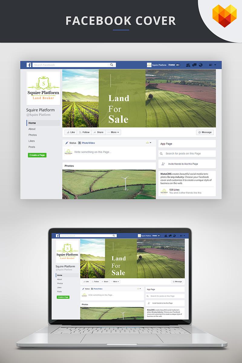 """Land Broker Facebook Timeline Cover"" - Шаблон для соцмереж №73672"