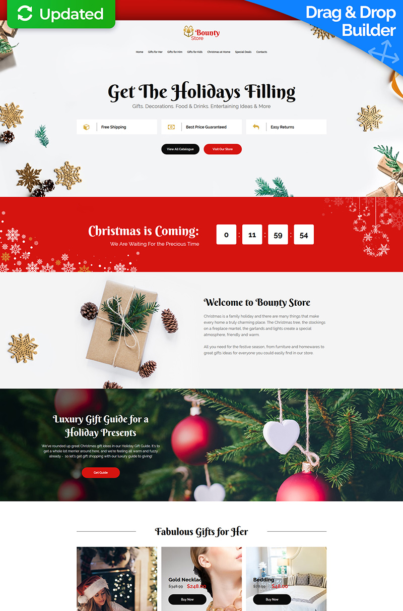 "Landing Page Template namens ""Bounty Store - Christmas"" #73648"