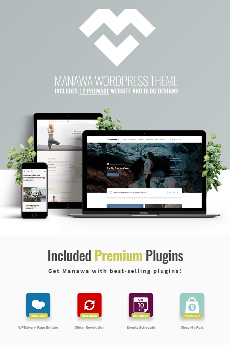 Manawa - Multi-Purpose WordPress Theme WordPress Theme - screenshot