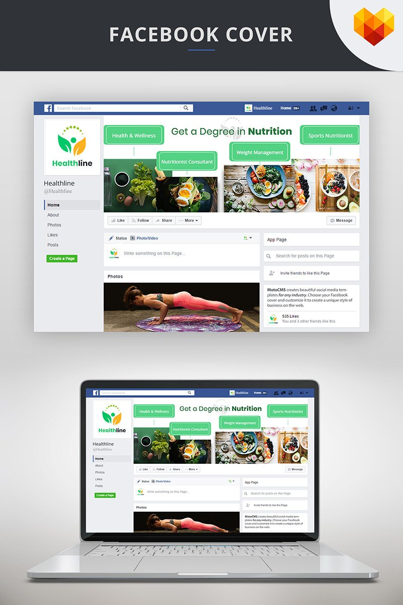 "Medios Sociales ""Nutrition Timeline Cover For Facebook"" #73674 - captura de pantalla"