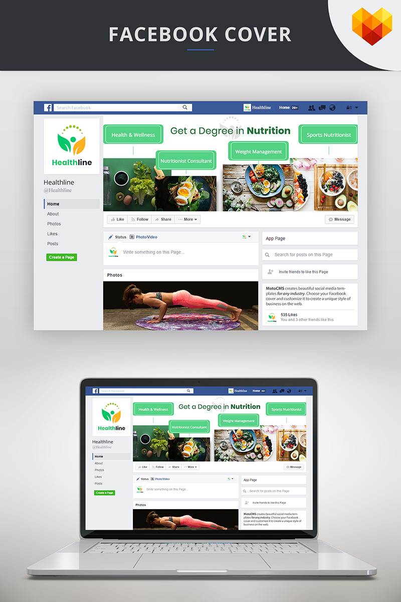 Nutrition Timeline Cover For Facebook Social Media