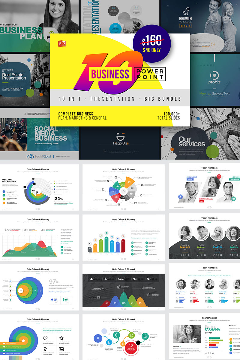 "Plantilla PowerPoint ""10 Best Business PowerPoint"" #73687"