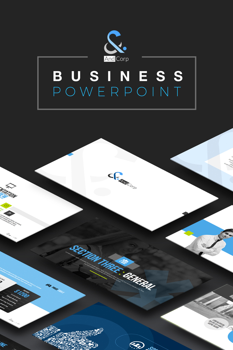 "Plantilla PowerPoint ""TheAND Business"" #73634"