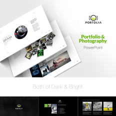 Business services powerpoint templates templatemonster portfolio photography product showcase good ppt template 73625 flashek Images