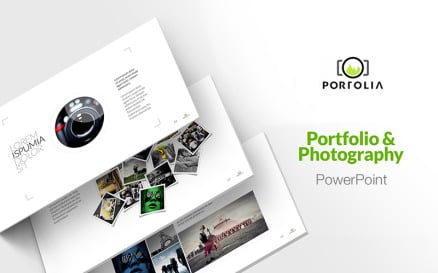 Portfolio - Photography & Product Showcase PowerPoint template PowerPoint Template