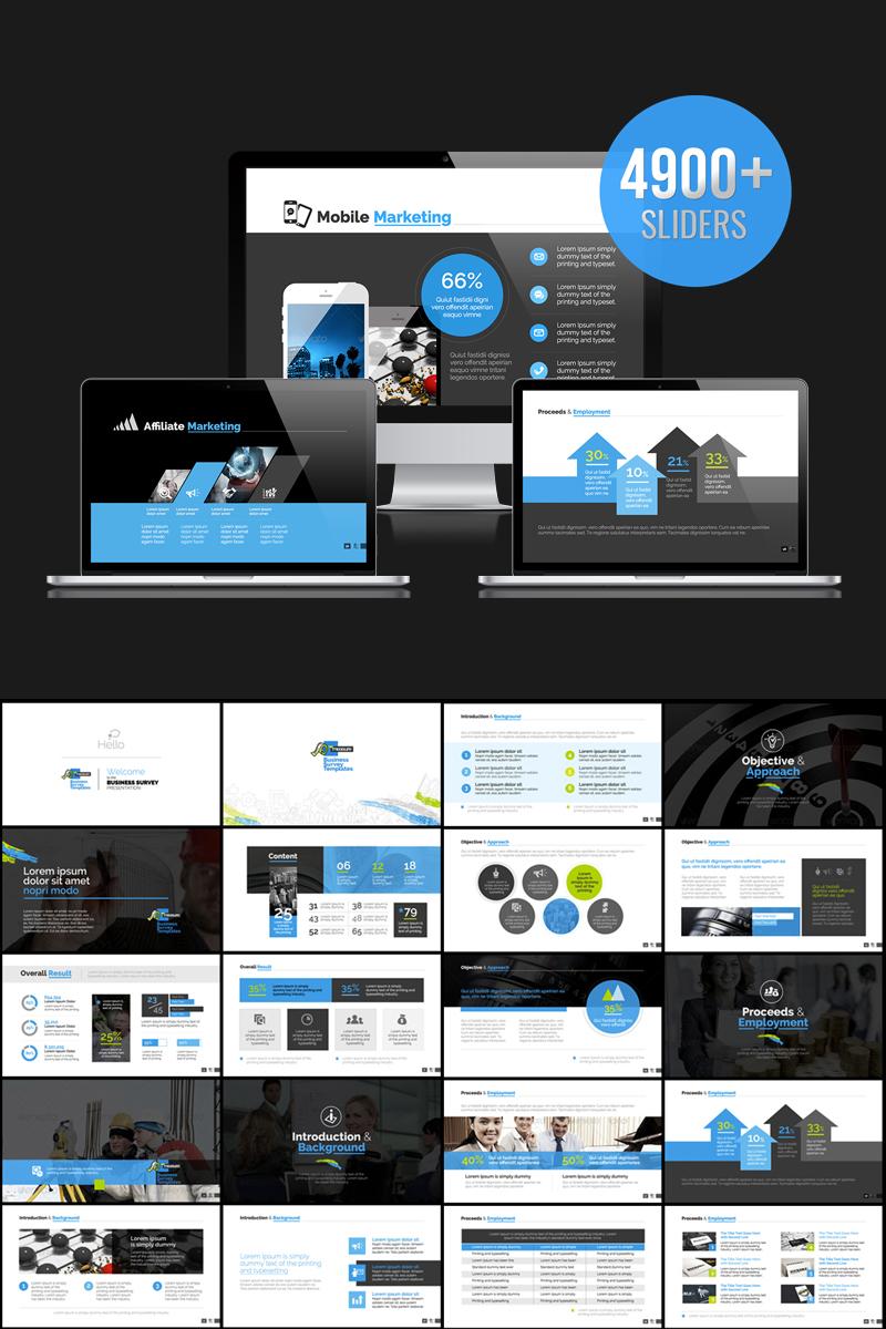 """PowerPoint Vorlage namens """"Business Survey & Marketing"""" #73619"""
