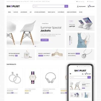 Shoplist - Mega Store OpenCart Template OpenCart Template #73688