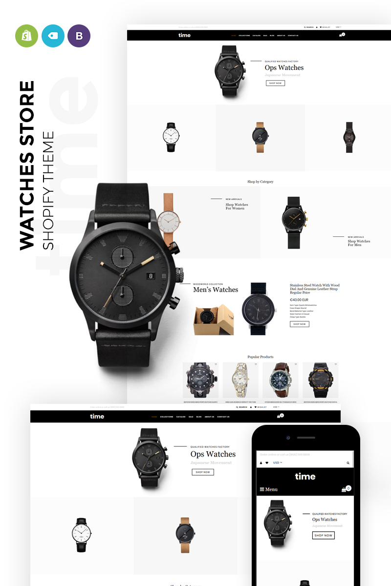 time - Laconic Clock Store Shopify Theme