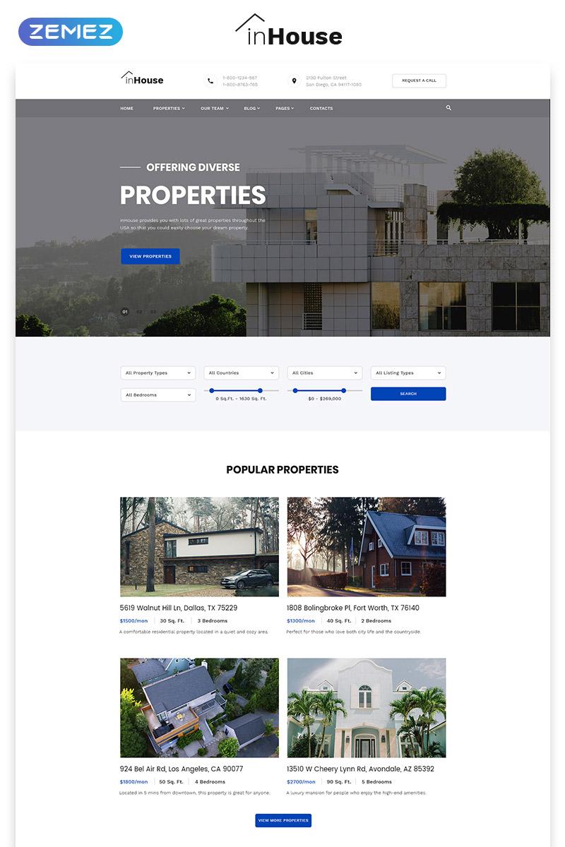 Website Vorlage #73602 für Immobilienagentur