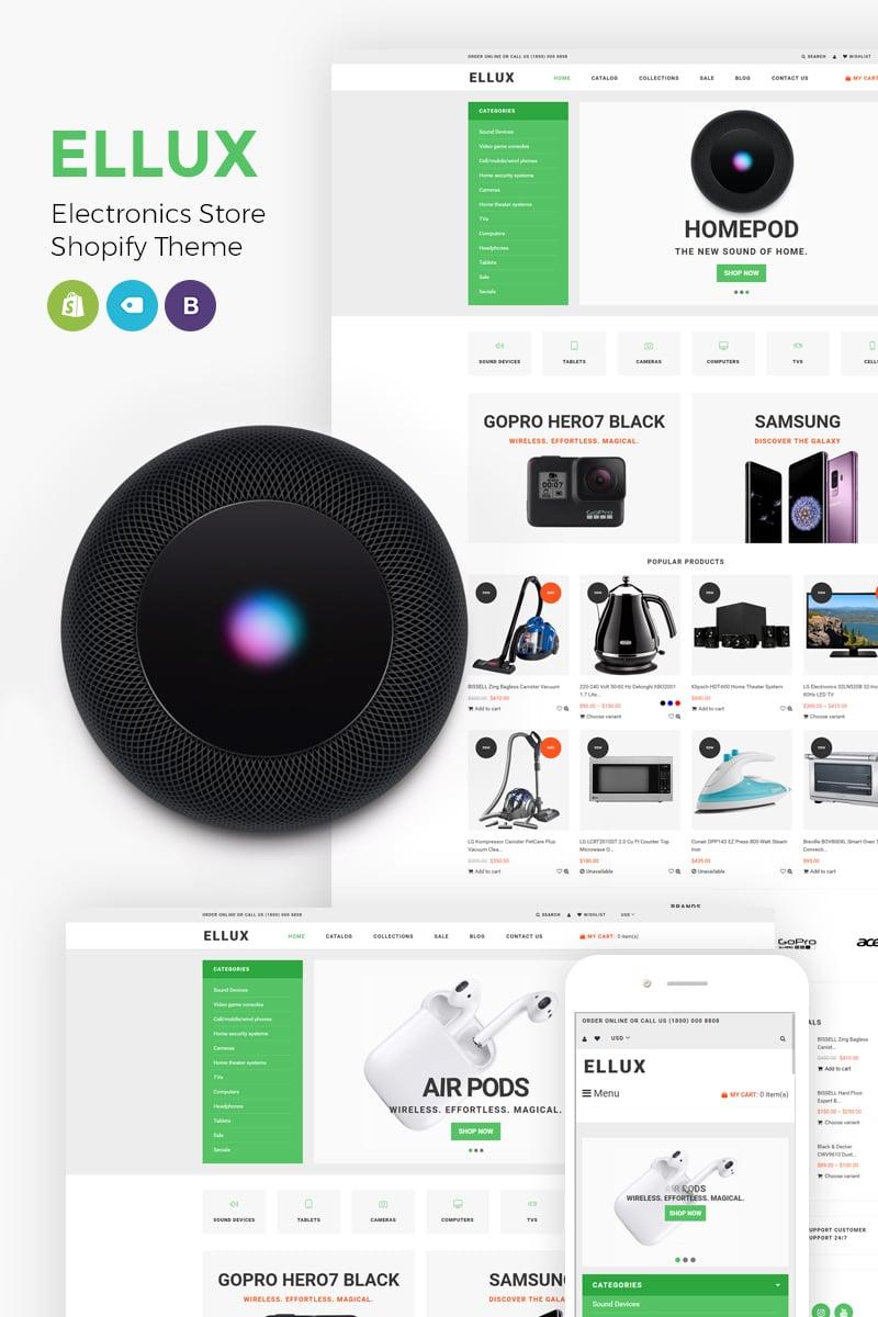 Tema para shopify - Categoría: Electrónica - versión para Desktop