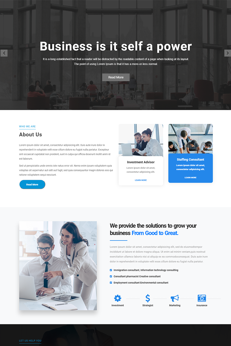 Beyond - Corporate Business HTML Tempalte Landing Page Template