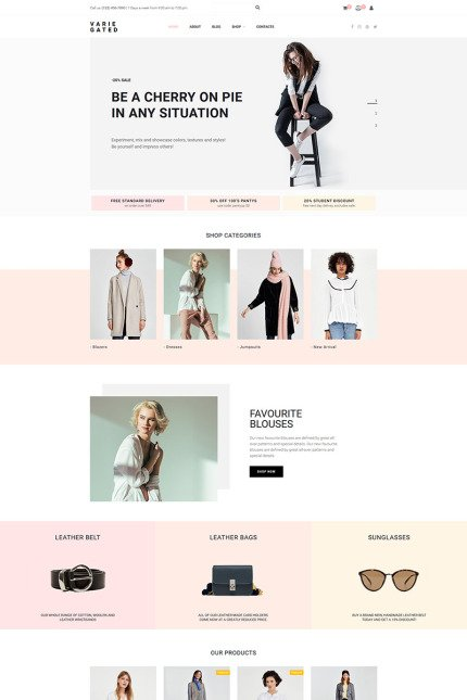 Website Design Template 73783 - jumpsuits