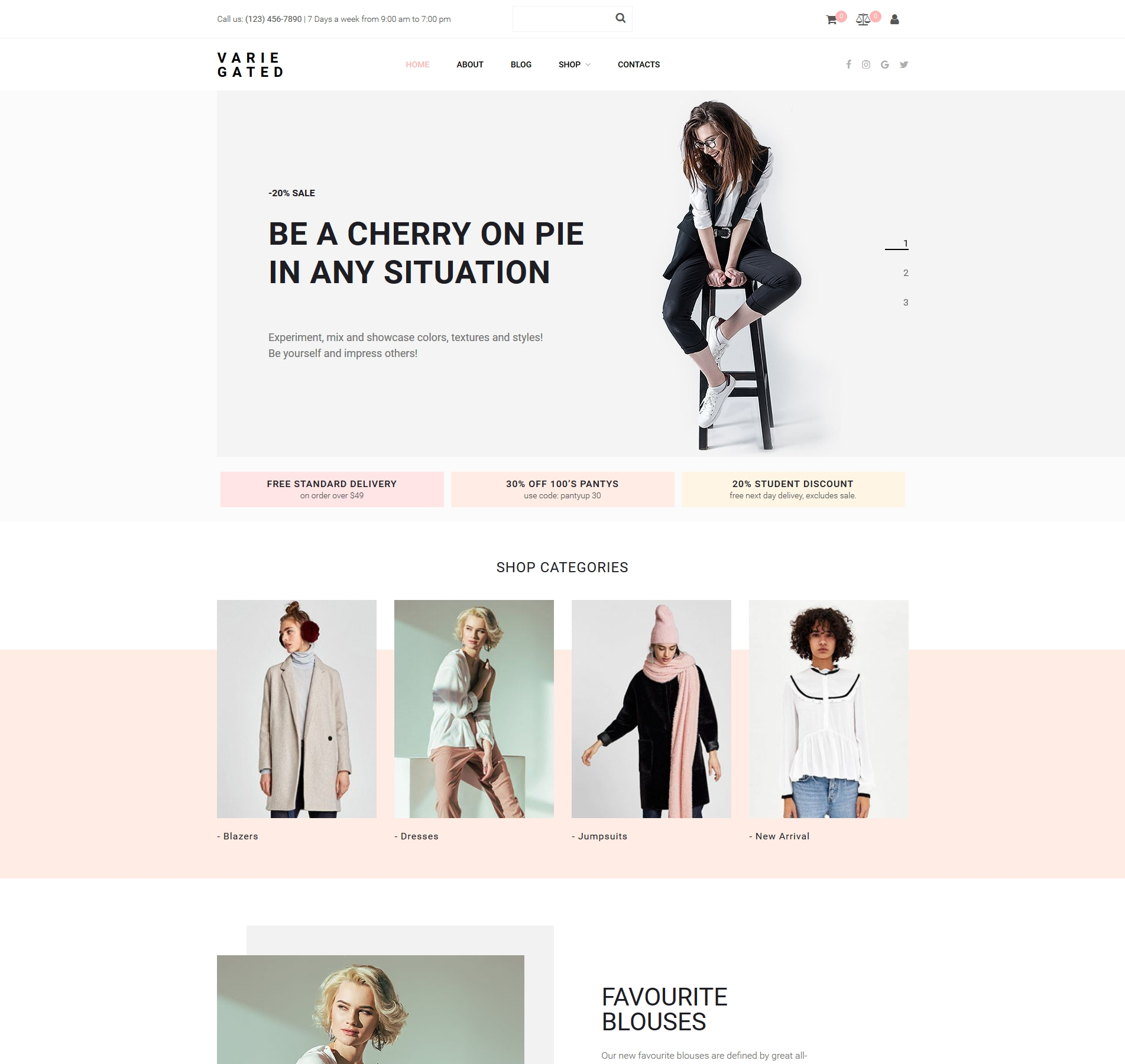 Website Design Template 73783 - fashion look style fashionable brandstore ecommerce luxury shopping sale womens boutique estore estores collection dresses ladies blazers jumpsuits