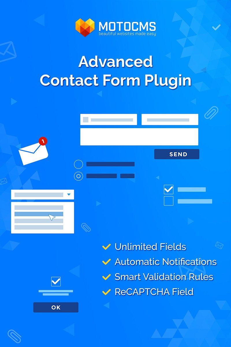 """Advanced Contact Form"" - адаптивний MotoCMS плагін №73741"
