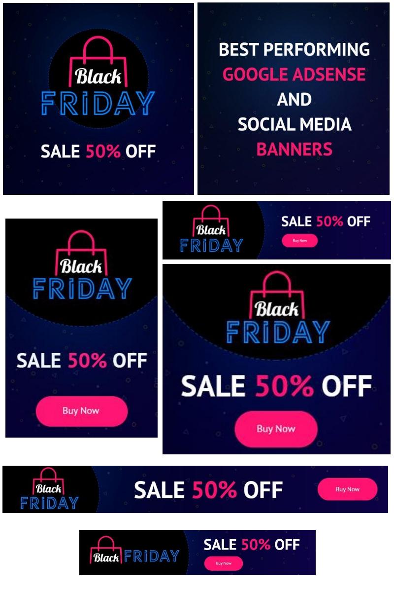 18 Black Friday: Google AdSense and Social Media Banners Social Media
