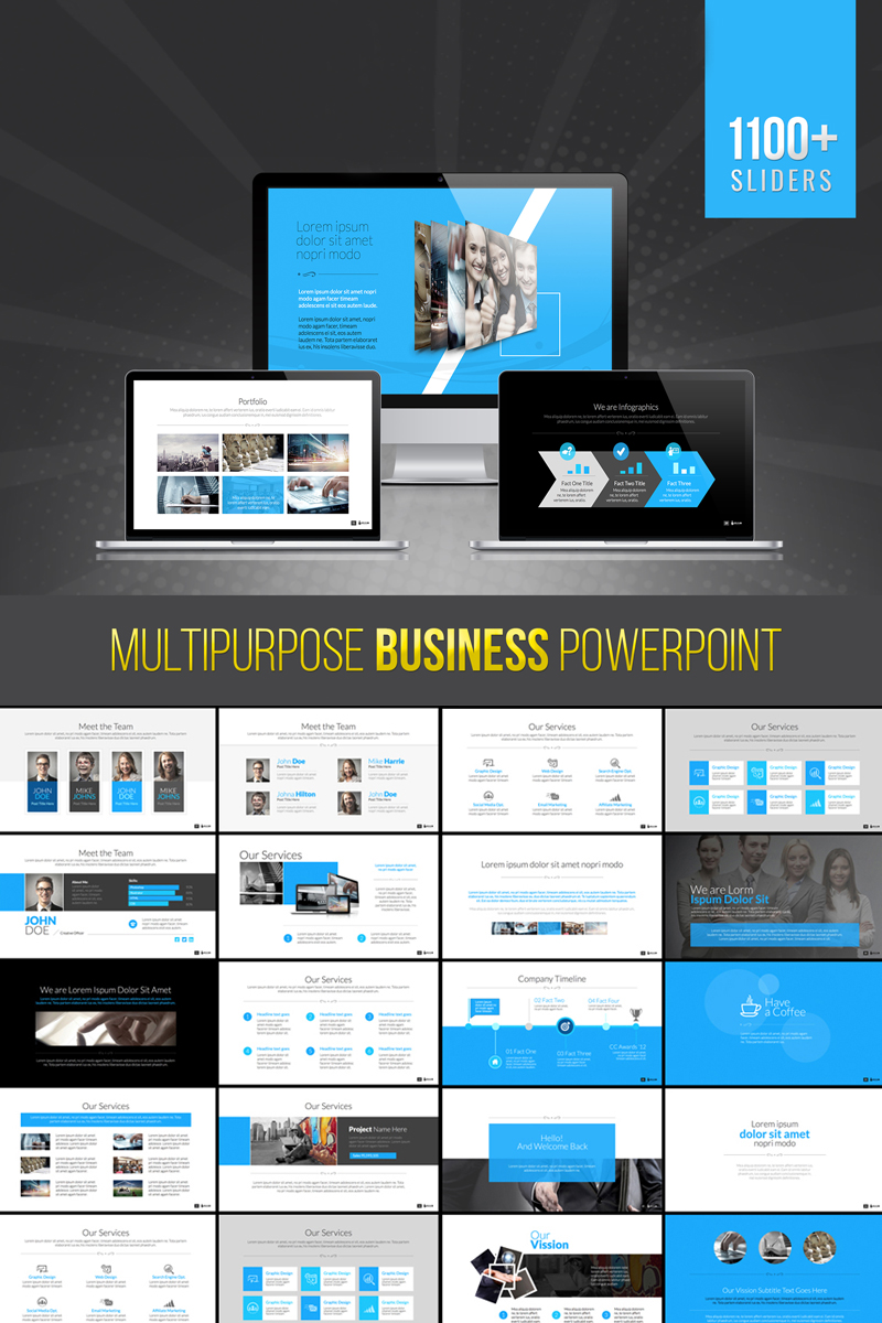 Bravo | Multipurpose Business PowerPoint sablon 73702