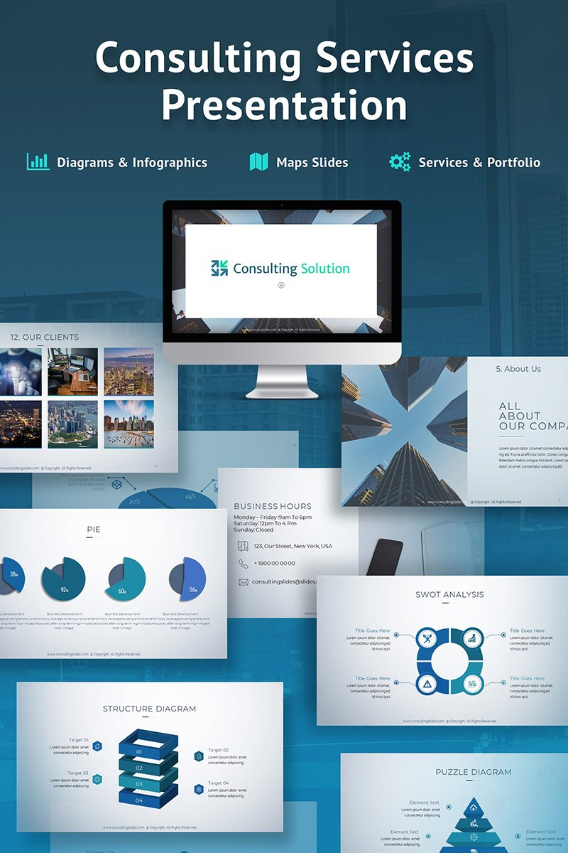 Business Slides - Consulting Services PowerPoint Template