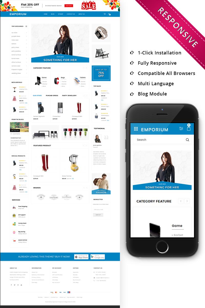 Emporium - Mega Store Responsive Template OpenCart №73745