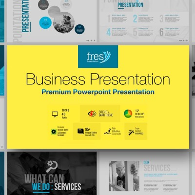 Fresy   Business PowerPoint template PowerPoint Template #73787