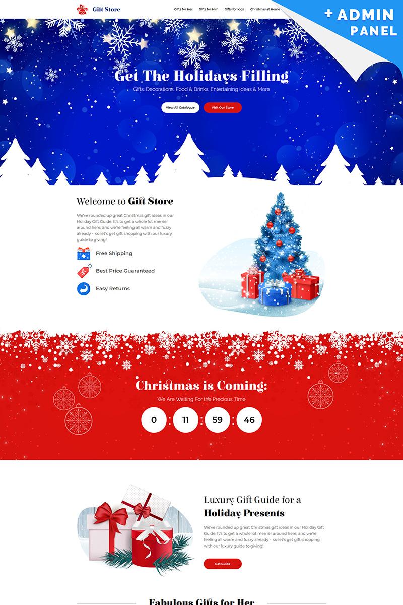 """Gift Store - Christmas"" Responsive Landingspagina Template №73785"