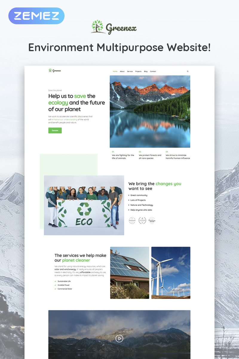 Greenex - Environment Multipurpose Elementor WordPress Theme - screenshot