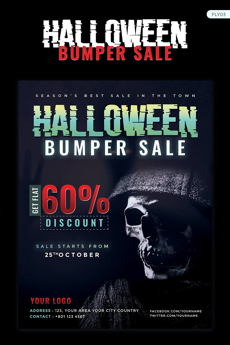 Halloween Bumper Sale Flyer Corporate Identity Template - screenshot