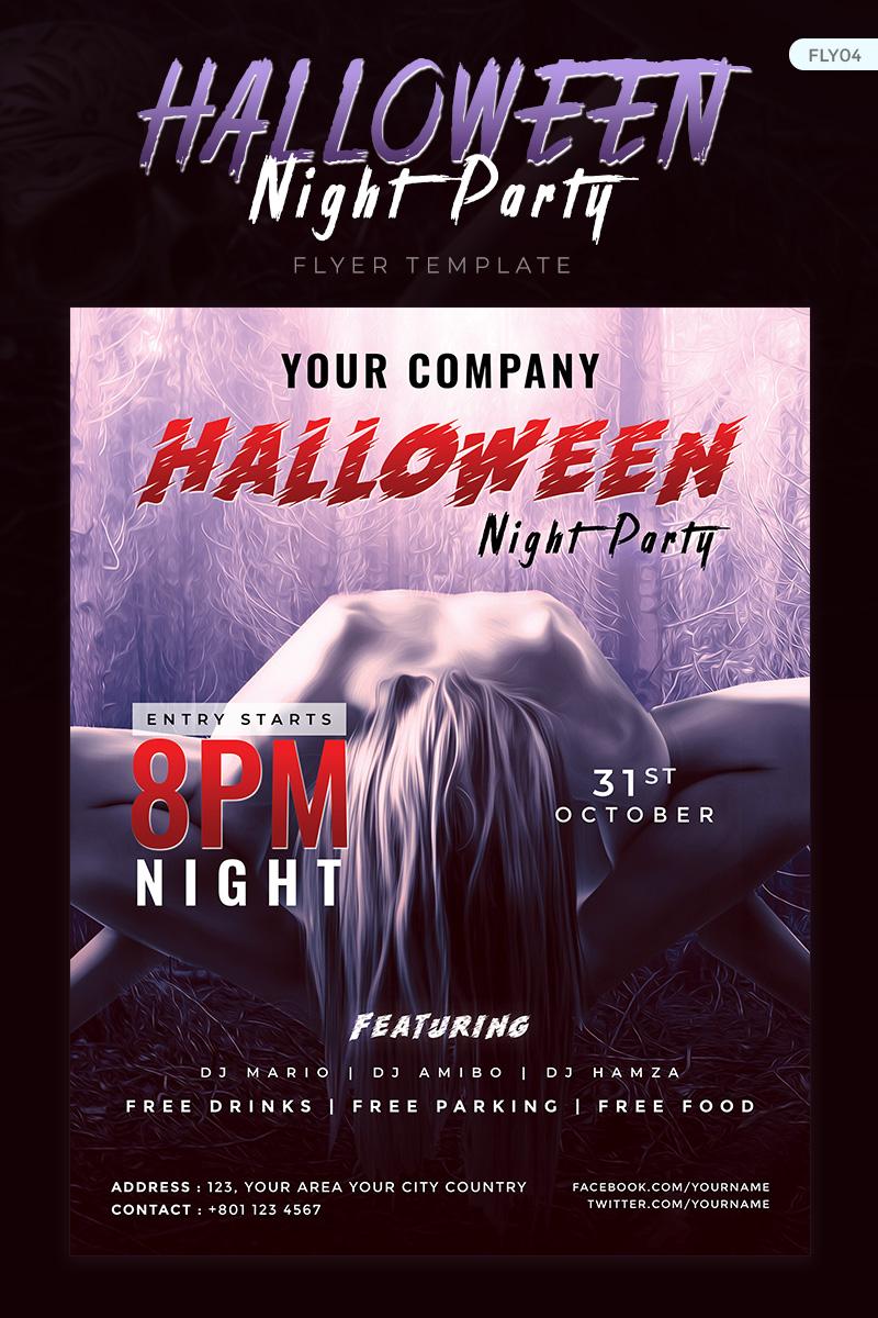 Halloween Night Party Flyer Corporate Identity Template - screenshot