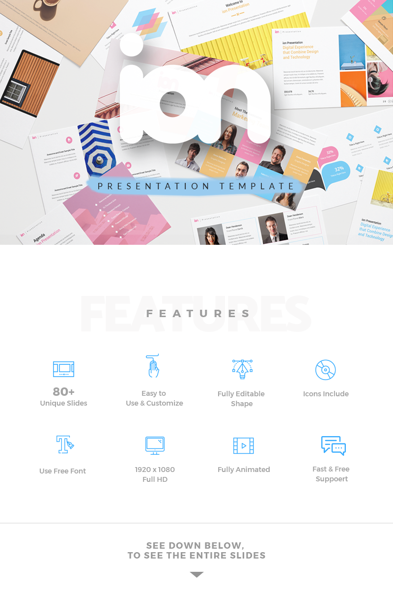ION Creative Presentation PowerPoint Template - screenshot