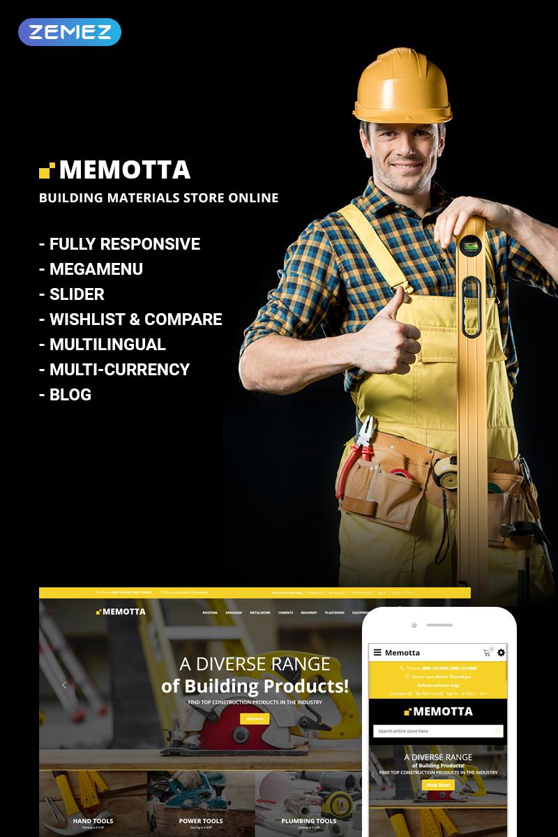 """""""Memotta - Building Materials Store"""" - адаптивний OpenCart шаблон №73740"""