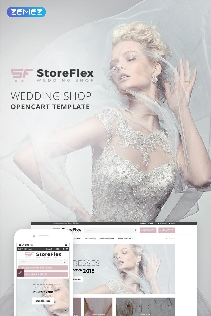 """OpenCart Vorlage namens """"StoreFlex - Wedding Store"""" #73714"""