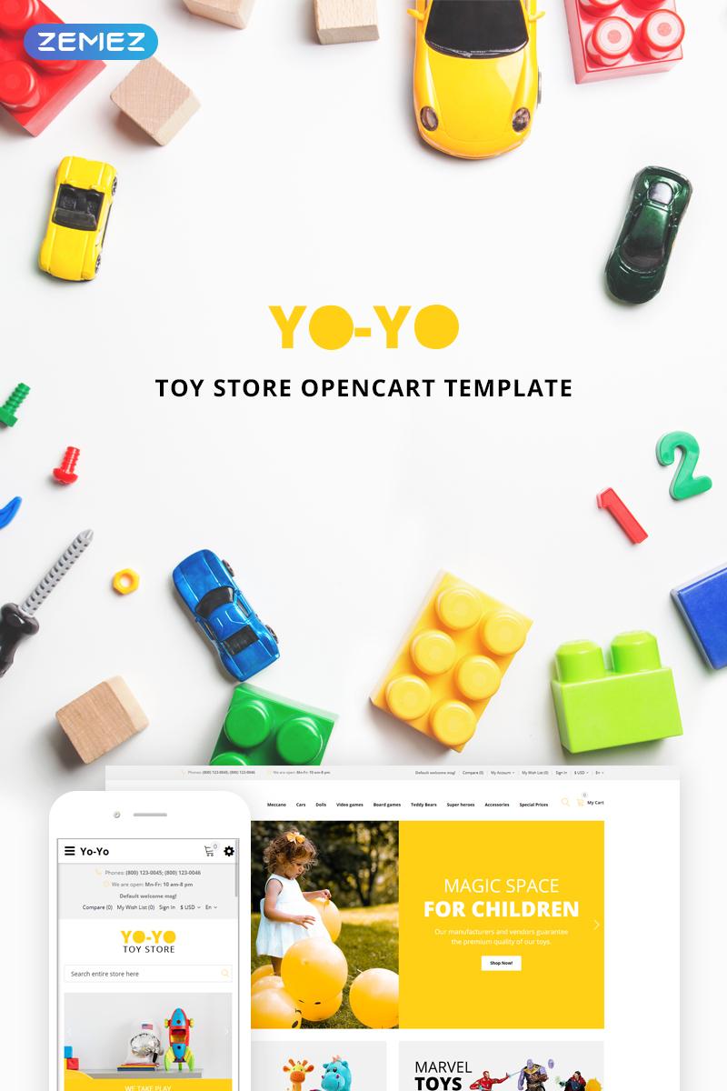 """OpenCart Vorlage namens """"Yo-Yo Toy Store"""" #73795"""