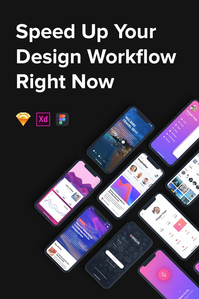 Origin Mobile Kit UI Elements